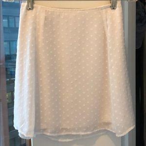 Aritzia Sunday Best White Mini Skirt